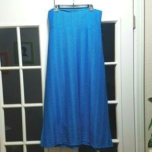 BNWT Ladies Blue Textured Maxi Skirt